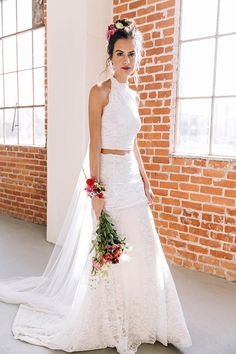 Bohemian Wedding Dress, Hippie Wedding Dress, Beach Wedding Dress, Vintage Wedding Dress, Organic Wedding Dress, Boho Wedding Dress, Indie Wedding Dress. ~ xo Iris by Wear Your Love A call out to the chicest among us, the Iris two-piece embodies a vibrant youthfulness with