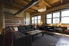 Bucktown (Chicago) Living Room Loft Interior Design Project