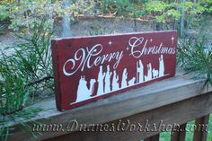FALL SALE 15 off Nativity Scene Merry Christmas by DuanesWorkshop, $13.60