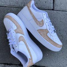 Beige Nike Shoes, Beige Paint, Paint Splatter, Custom Shoes, Simple Designs, Nike Air Force, Sneakers Nike, Pairs, Brand New