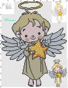 Christmas Angel cross stitch pattern