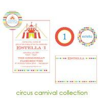 Circus Carnival Collection : WH Hostess, Stationery Custom Designs Party Planning Holidays Birth Announcement Collections