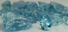 Natural aquamarine stones. They're so pretty!