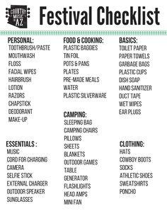 Music Festival Checklist