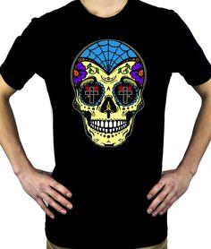 a40ee3945 Sugar Skull Calavera Men's T-Shirt. Mexican SkullsDay Of The Dead ...
