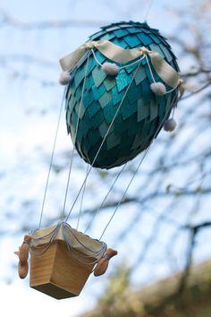 Dragon Egg Hot Air Balloon - Steampunk Decor - Nursery Decor on Etsy, $85.00 Air Ballon, Hot Air Balloon, Nursery Themes, Nursery Decor, Dragon Egg, Arts And Crafts, Diy Crafts, Egg Art, Steampunk Diy