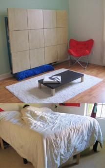 DIY: 3 Great Ways to Build Your Own Murphy Bed: The Moddi Ikea Murphy Bed