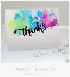 water color thank you cards Thank U Cards, Karten Diy, Paint Cards, Greeting Cards Handmade, Handmade Thank You Cards, Card Making Inspiration, Watercolor Cards, Cute Cards, Homemade Cards