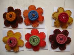 Flower felt craft
