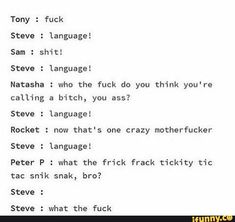 The post language😡 appeared first on Marvel Memes. Funny Marvel Memes, Dc Memes, Avengers Memes, Marvel Jokes, Marvel Heroes, Marvel Avengers, Superfamily Avengers, Disney Marvel, Marvel Cinematic Universe