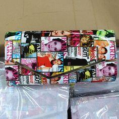 5 kleuren vrouwenblad koppeling modeblad cover art pu lederen handtas tas met ketting mode bazaar tassen merk(China (Mainland))