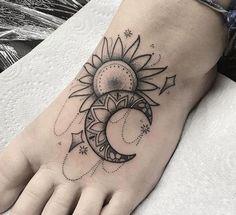 Walking Moon Tattoo – Walking Moon Tattoo – … – foot tattoos for women Moon Star Tattoo, Star Tattoos, Leg Tattoos, Body Art Tattoos, Tattoo Thigh, Tatoos, Sun Moon Tattoos, Bird Tattoos, Celtic Tattoos