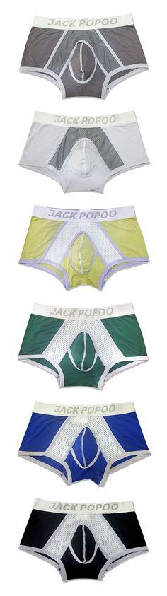 Sexy Boxer Briefs for Men: Pouch Modal / Mesh Breathable / U Convex