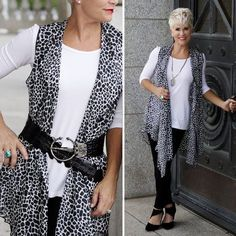 Let's talk about basics here with the best and softest T ever,   and some leopard print over the top,   all pulled together with ...