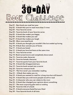 Book challenge! It'll be hard to post only one a day!