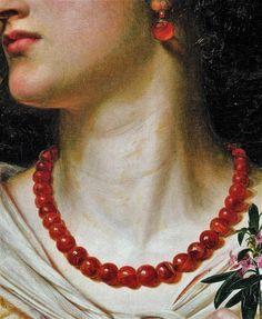 """Vivien"" by Anthony Frederick Augustus Sandys,1863"