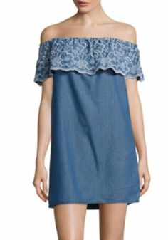 011c5a753c1 Romeo   Juliet Couture - Floral Embroidered Denim Dress