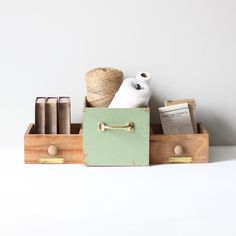 industrial wood drawer set by AMradio on Etsy, $56.00