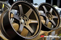Real thing, Japanese forged racing wheels. One of the top. Must have if you got $4400-$4500 for it. G37 Sedan, Mustang, Convertible, Wheels, Bronze, Racing, Japanese, Cars, Top