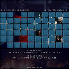 """52 dias para Batman vs Superman: A Origem da Justiça // 53 days until #BatmanvSuperman!  #TeamSuperman #BvS #HenryCavill #superman #aorigemdajustiça…"""