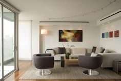Spare and simple inside a Cambridge condo designed by Mary Jean Keany of Anamika Design (photo by Eric Roth)