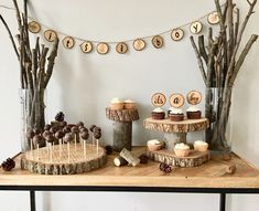 Woodland Baby Shower - Baby Shower Decorations - Fall Baby Shower Woodsy Baby Showers, Forest Baby Showers, Deer Baby Showers, Boy Baby Shower Themes, Shower Baby, Woodlands Baby Shower Theme, Woodland Baby Shower Decor, Hunting Theme Baby Shower, Animal Theme Baby Shower