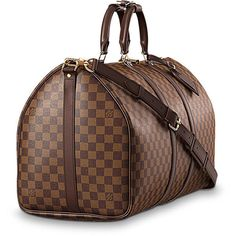 affab1dc8c79 LOUIS VUITTON Keepall Bandoulière 55 (€1.370) ❤ liked on Polyvore featuring  bags, handbags, crossbody purse, cross-body handbag, cross body travel purse,  ...