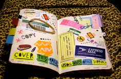 Wreck This Journal: Cover this page using only office supplies.    I'm sure my office won't miss any of this stuff ...     Is your work space hurting you?