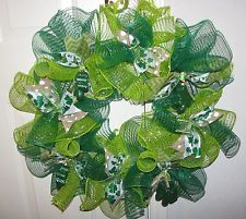 St. Patrick's Day Deco Mesh Wreath *NEW*