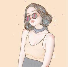 Girl Cartoon, Cartoon Art, Cute Girl Wallpaper, Aesthetic Drawing, Digital Art Girl, Anime Art Girl, Portrait Art, Cute Drawings, Art Sketches