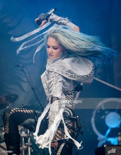 Alissa White-Gluz of Arch Enemy performing live on stage on day 3 at Bloodstock Festival at Catton Hall on August 13, 2017 in Burton Upon Trent, England.