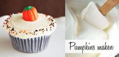 Pompoen cupcakes met vanille & kaneel frosting | Cupcakerecepten.nl