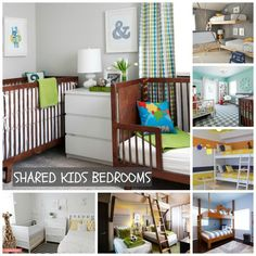 Shared kids bedrooms - such fun designs
