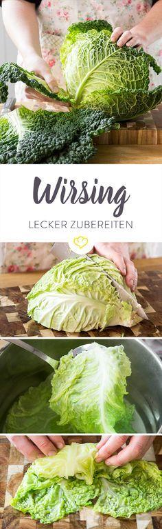 Lust auf Wirsing, aber keine Idee, wie du das Gemüse in der Küche verwendest? Wir zeigen dir, wie du ihn richtig zubereitest und er am besten schmeckt.