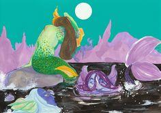 Mermaid illustration from earlier this summer.