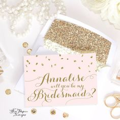 "Party Proposal Freebie Printable Diy ""will You Be My Bridesmaid"" Card Set ."