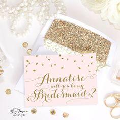 "Party Proposal Mesmerizing Freebie Printable Diy ""will You Be My Bridesmaid"" Card Set ."