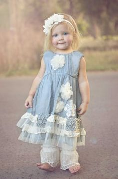chic flower girl dresses with collars  | Shabby Chic Little Sister Sasha Dress 12 Months to 2T Now In Stock