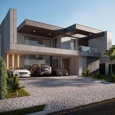 visit our website for the latest home decor trends . Modern Small House Design, Modern Exterior House Designs, Dream House Exterior, Modern Architecture House, Exterior Design, Amazing Architecture, House Outside Design, House Front Design, Home Building Design