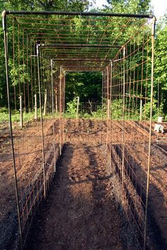 really like this ~ rebar, fencing & pipes ~ looks sturdy, supposedly easy to take apart also