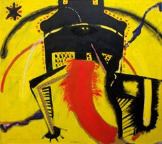 """AIMONE NINO  """"Idolo""""  180x200 olio su tela  Opera firmata in basso al centro e al retro con titolo"""
