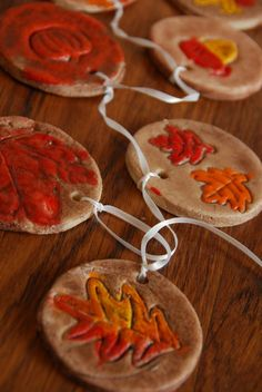 We made these fun fall salt dough ornaments as a fall decoration. It's a great c… We made these fun fall salt dough ornaments as a fall decoration. It's a great craft for kids of all ages. Leaf salt dough crafts are so fun. Fall Crafts For Kids, Thanksgiving Crafts, Crafts To Do, Decor Crafts, Holiday Crafts, Craft Decorations, Thanksgiving Parties, Thanksgiving Decorations, Craft Ideas