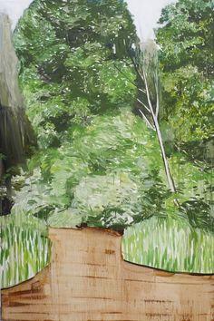 """Mykolé, """"Landscape 2"""", 2012, 195 x 130 cm  Oil, canvas. Contemporary landscape paintings."""
