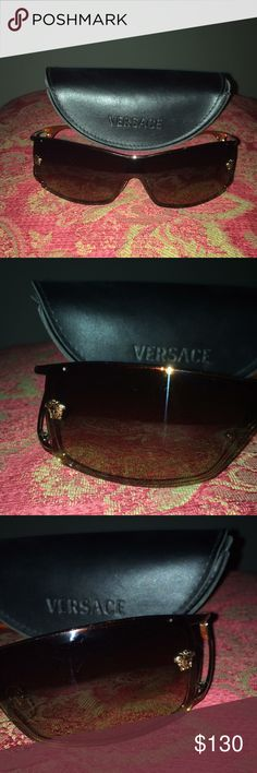 Versace sunglasses Mod 2048 1052/13 Lovely sunglasses With case Orange/gold Good preloved condition Pet and smoke free home Check my closet and bundle to save 10% Versace Accessories Sunglasses