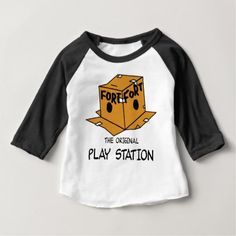 The Original Play Station Baby T-Shirt - kids kid child gift idea diy personalize design