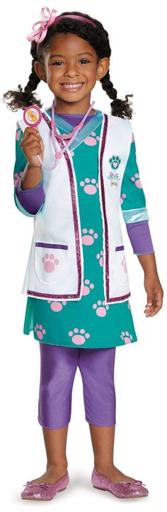 Doc McStuffins Deluxe Pet Vet Costume For Toddlers from Buycostumes.com