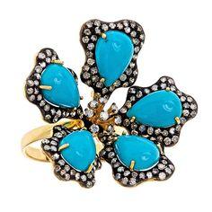 J/Hadley Turquoise Flower Ring