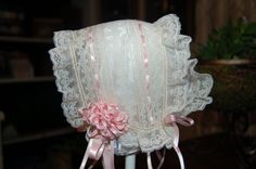 heirloom bonnets | Catheryn Collins' Heirloom Creations: All Lace T-Cap Bonnet