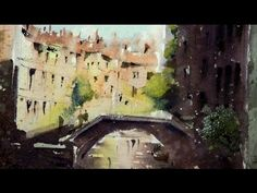 Watercolor demonstration of a typical VENICE sketch - YouTube