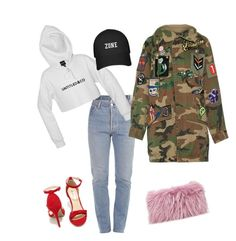 """street style"" by destiny-polk on Polyvore featuring Vetements, Qupid, Marc Jacobs and Mr & Mrs Italy"